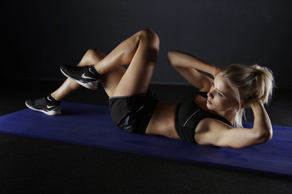 sport, training, abdominals