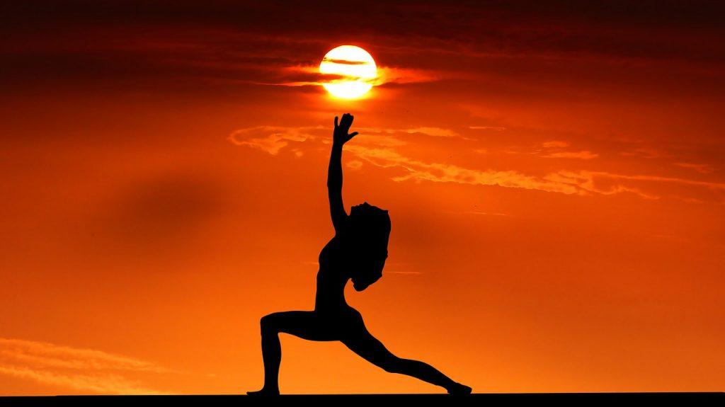 sunset, yoga, zen