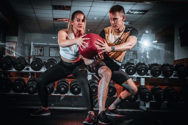man, woman, workout